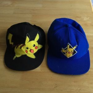 2 adjustable kids Pokemon hats